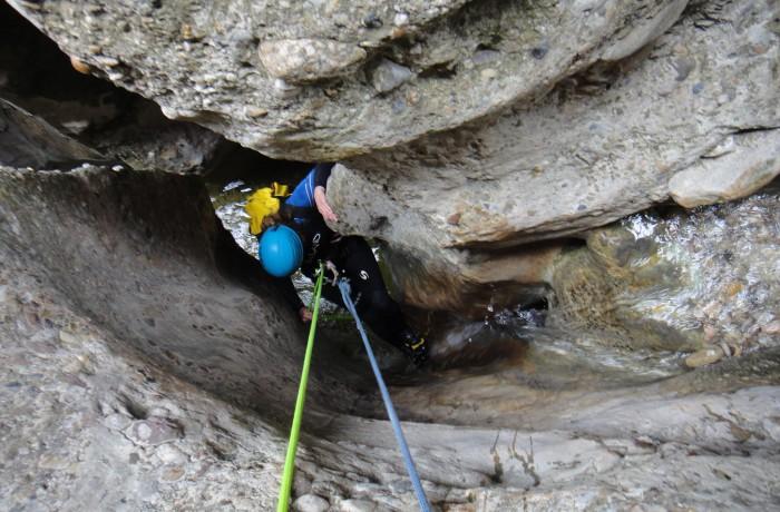 Canyoning i Bierge, Spanien maj 2014